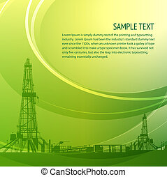 Industrial banner for your text. Vector illustration.
