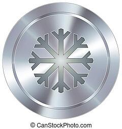 industrial, botão, snowflake