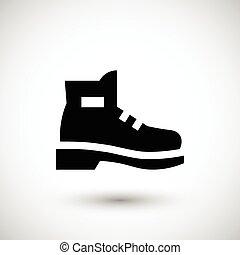industrial, bota, icono
