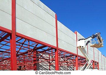 industrial building construction steel structure crane