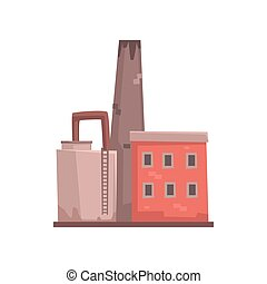 Industrial building factory or plant vector illustration