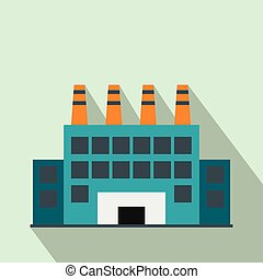 Industrial building flat icon
