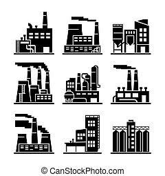 Industrial building. Industry. Production. Energetics. ...
