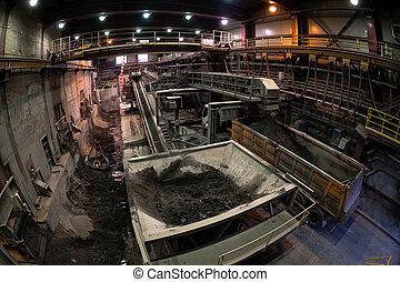 Industrial building interior  fisheye photo