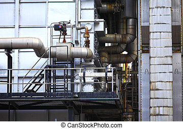 Industrial building, Steel pipeline