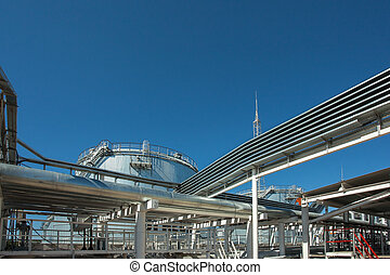 Industrial building, Steel pipelines