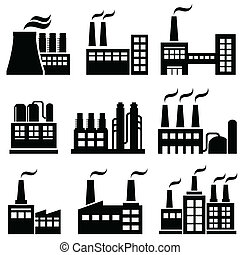 Industrial buildings, factories, power plants