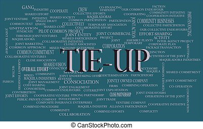 industrial business word cloud vector illustration. - Tie up...