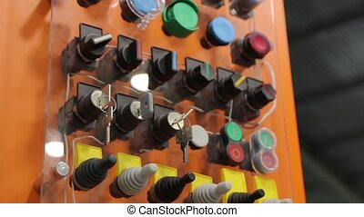 Industrial Buttons Control Keys - Industrial control buttons...