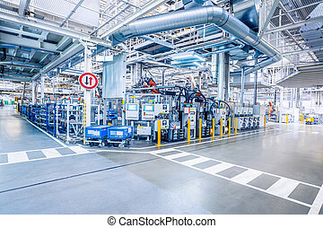 industrial car factory background