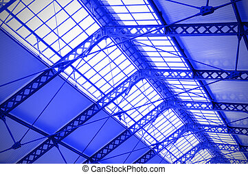 Industrial ceiling of a railway station