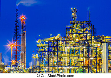 Industrial Chemical plant framework detail