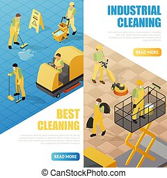 Industrial Cleaning Banners