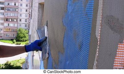 Industrial Climber using Trowel Putty Glue on Fiberglass ...