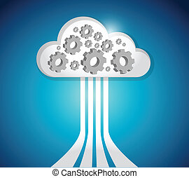 industrial cloud computing connections illustration design...
