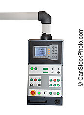 Industrial CNC control panel isolated