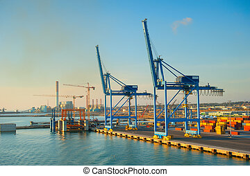 Industrial commercial sea port