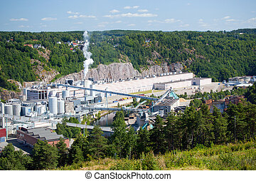 Industrial complex, Fredriksten, Norway