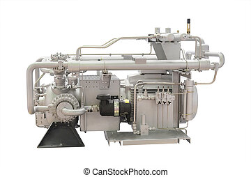 industrial compressor isolated under the white background