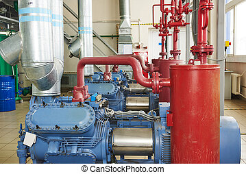 industrial compressor station - engineering equipment....
