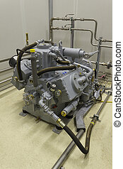 Industrial compressor supplying pressure to compressed air...