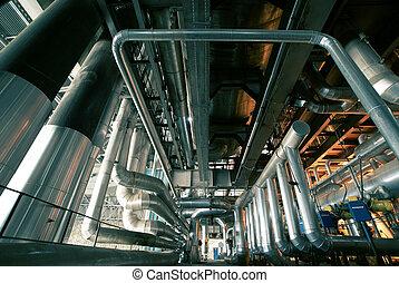 industrial, conceito, fundo