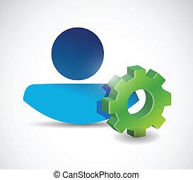 industrial concept illustration design