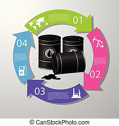 Industrial concept info graphic design, clean vector - ...