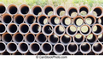 Industrial concrete pipes. Concrete tubes small radius