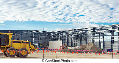 Industrial construction site