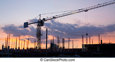 Industrial construction site - Industrial construction...