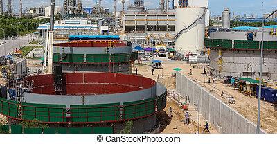 Industrial construction yard