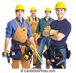 contractors workers - Industrial contractors workers people....