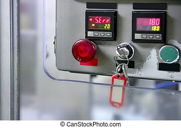 Industrial control panel installation button - Industrial...