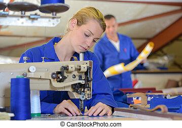 industrial, costura