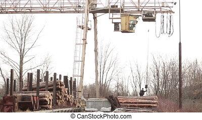 Industrial crane gantry video industry