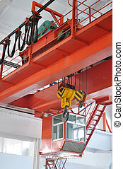 Industrial Crane - Industrial crane with In the workshop%...