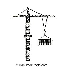 industrial crane loading container cargo terminal element
