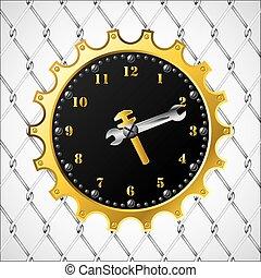Industrial design clock