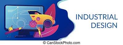 Industrial design concept banner header.