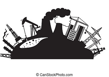 Industrial design isolated over white. Vector illustration.