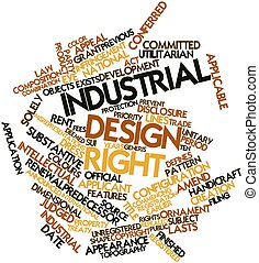 Industrial design right - Abstract word cloud for Industrial...