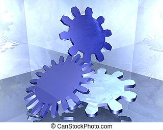 Industrial Design. A symbolic 3D render.