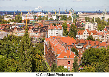 Industrial District in Gdansk - Industrial district in the ...