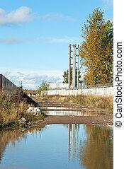 Industrial district in Saint-Petersburg (Kanonersky isand) ...
