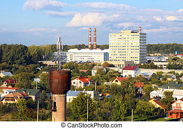industrial district in the city - industrial district in the...
