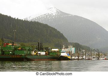 Industrial Docks by Alaska Mountain