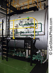 Industrial duel fuel steam boiler - Industrial duel fuel...