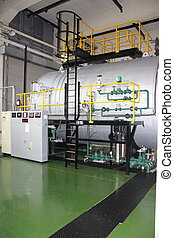 Industrial duel fuel steam boiler