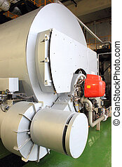 Industrial duel fuel steam boiler